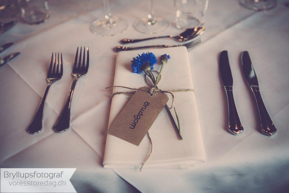 bordopdækning bryllup Sonnerupgaard Gods