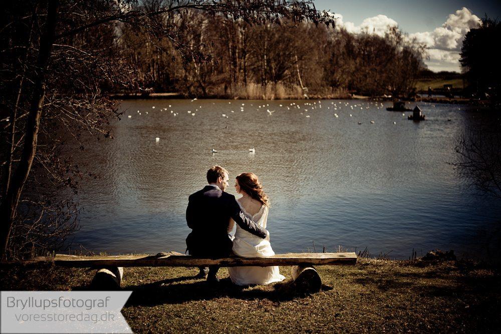brudepar ved sø skagen