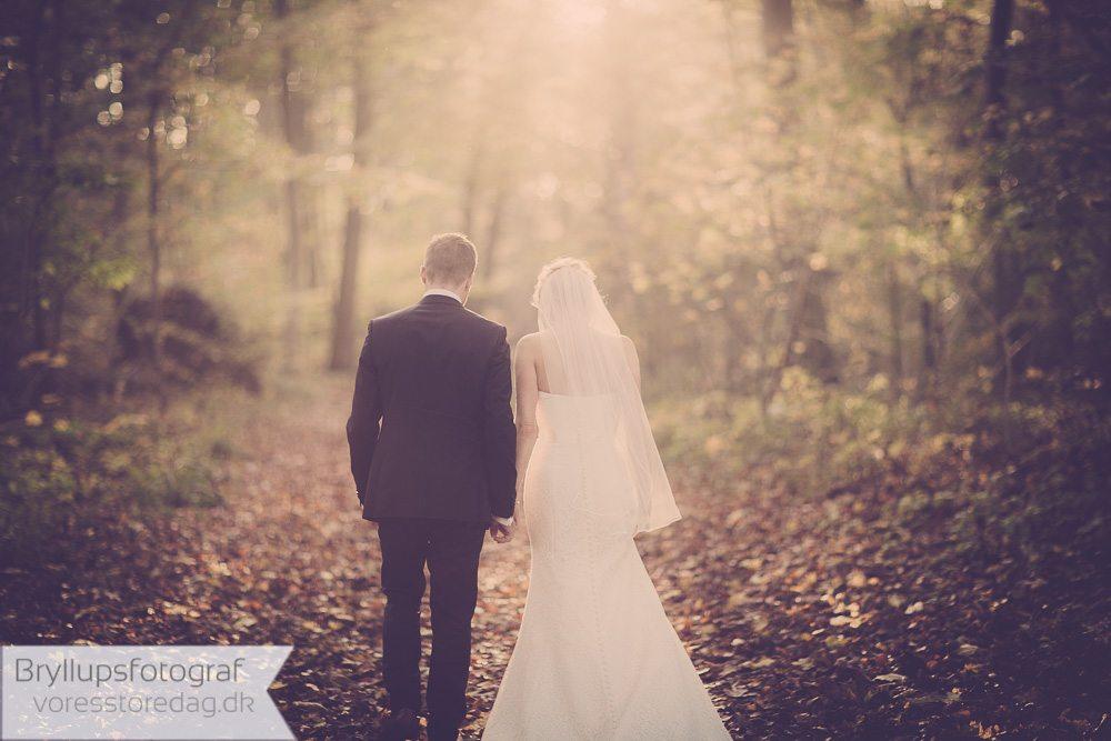 brudepar i skoven ebeltoft