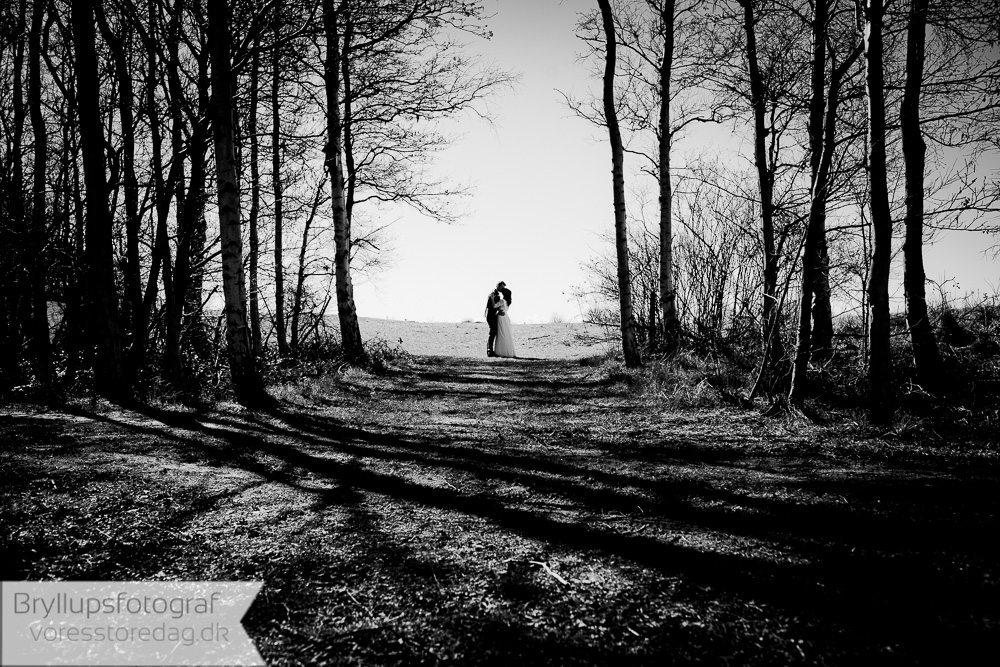 par bryllup skov