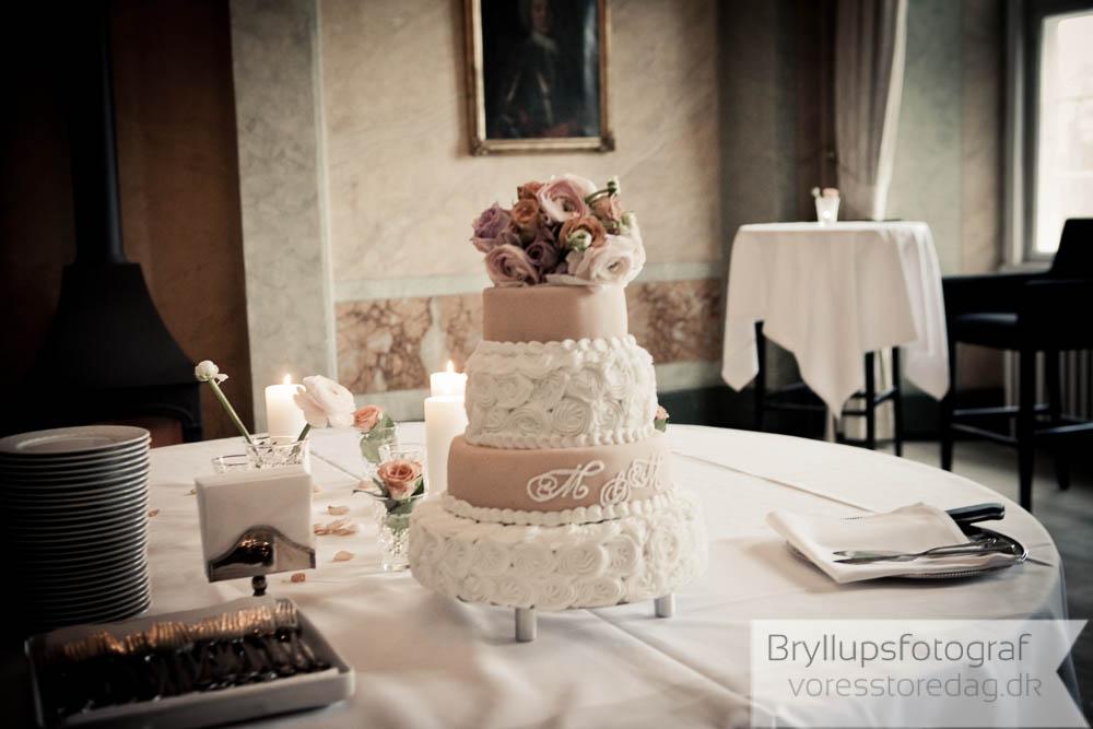 bryllupskage holckenhavn slot