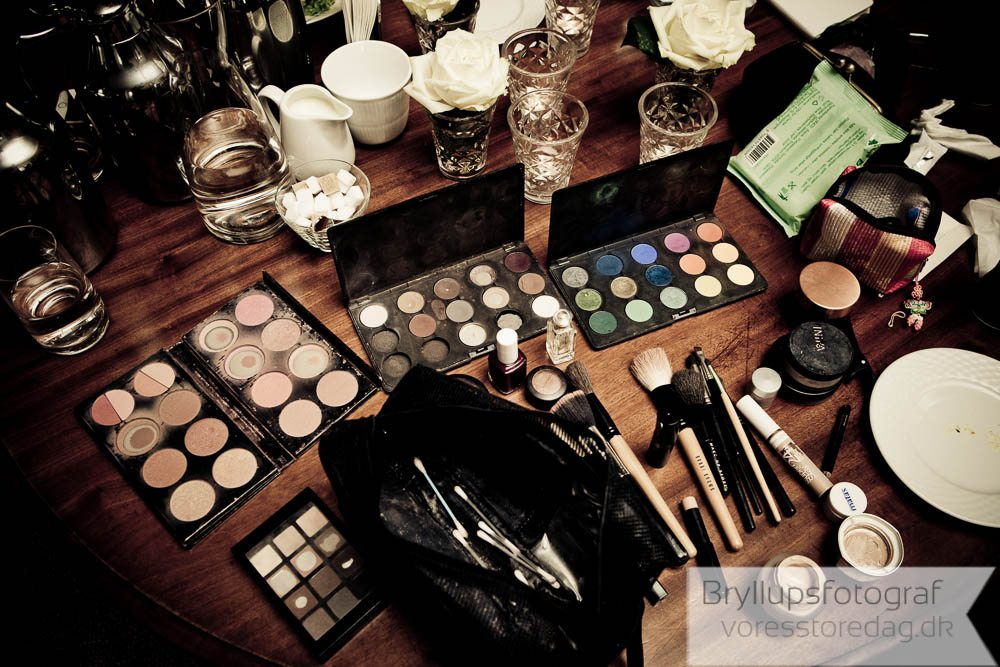 makeup styling bryllup