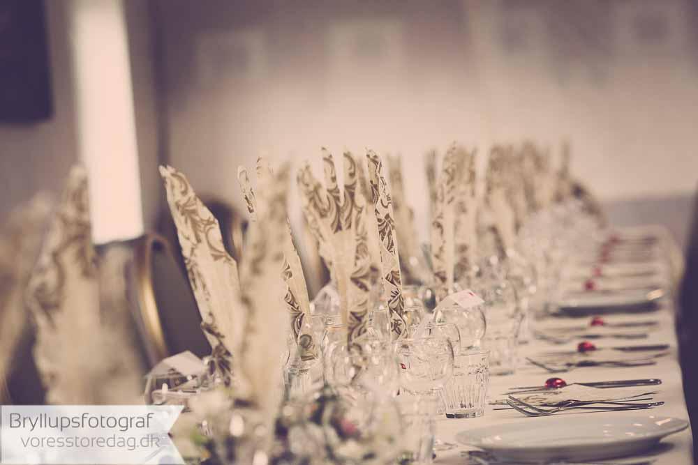 borddækning bryllup
