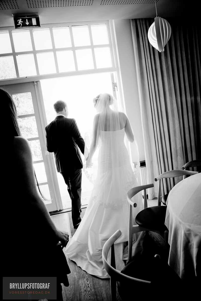 sort hvid brudefoto varna palæet
