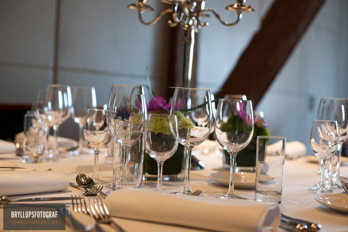 hjemmelavet bordpynt til bryllup