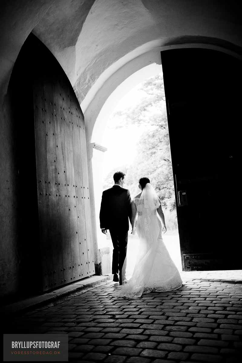 brudepar sort hvid