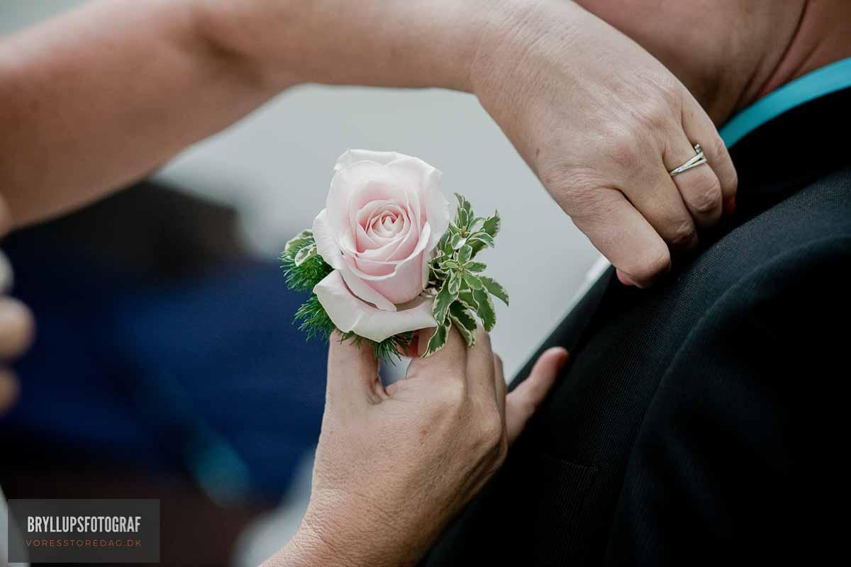 brystbuket bryllup