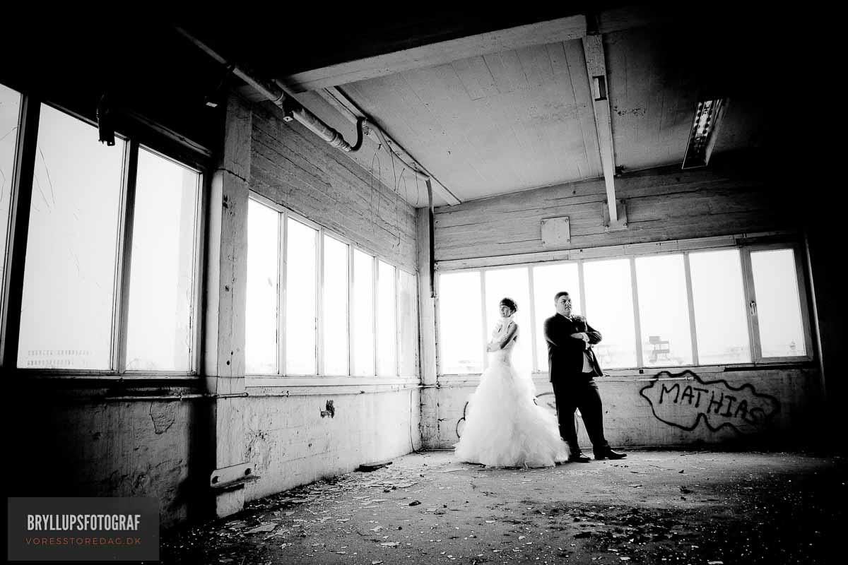 sort hvide bryllupsfotos