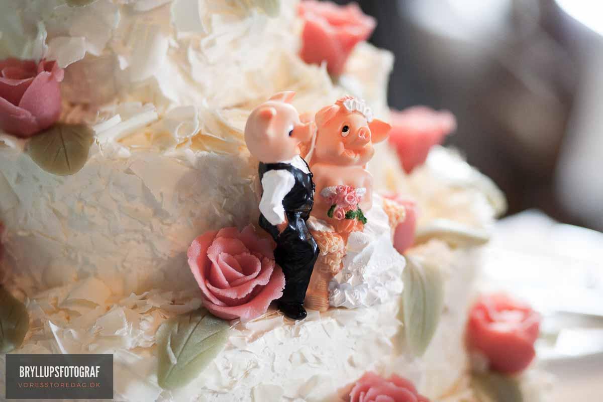 pynt bryllupskage