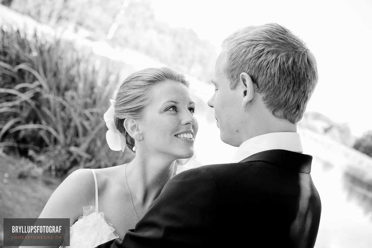 sort hvid bryllupsfoto